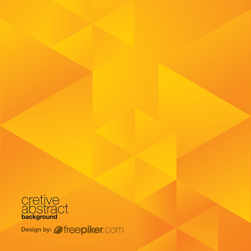 Yellow Orange Abstract Polygon Background
