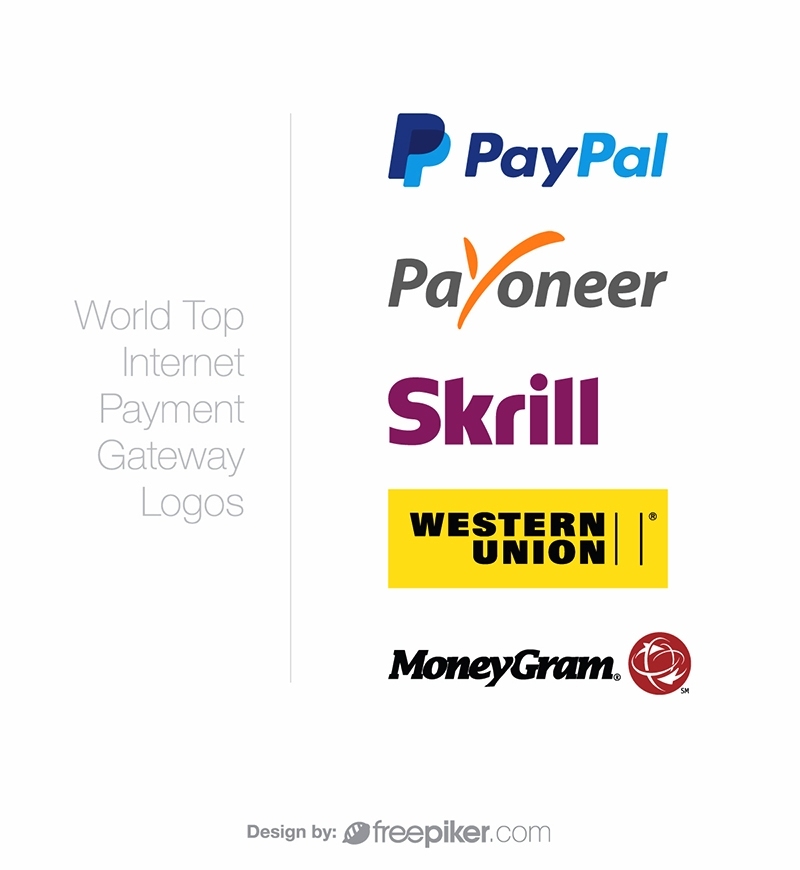 freepiker world top internet payment gateway logos