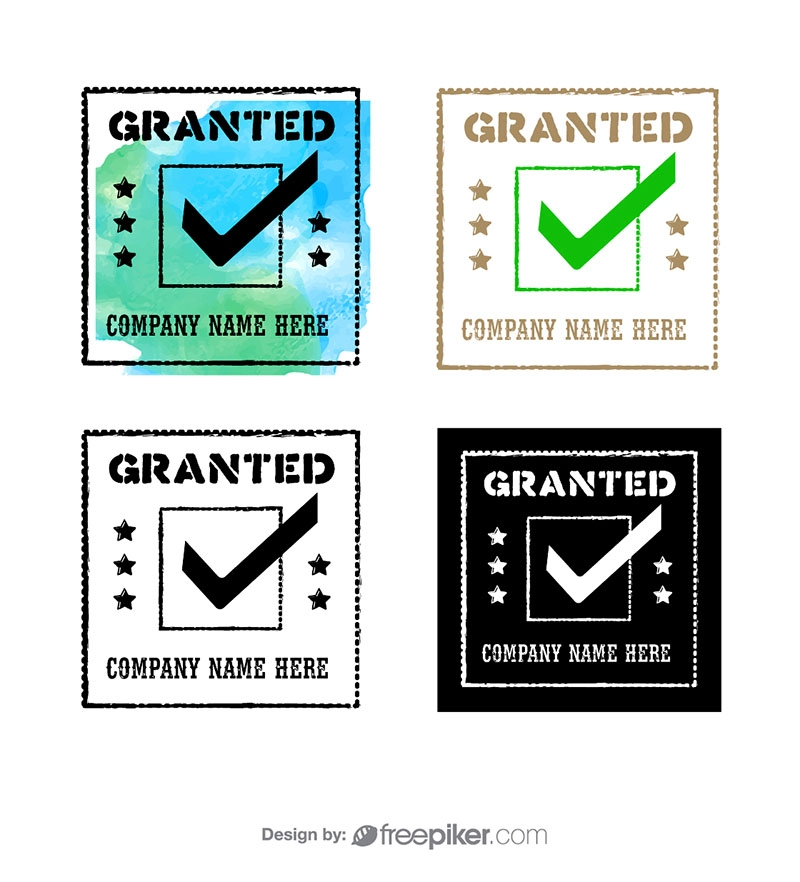 Granted Guarantee Rubber Stamp & Retro Seal