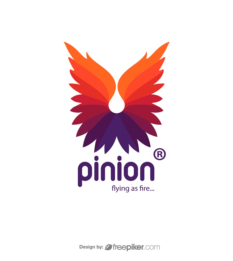 Pinion Fire Feather Logo