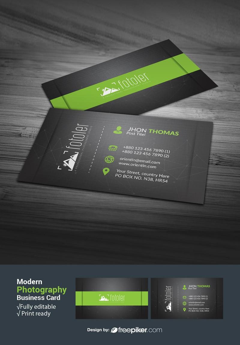 Freepiker | modern photography business card