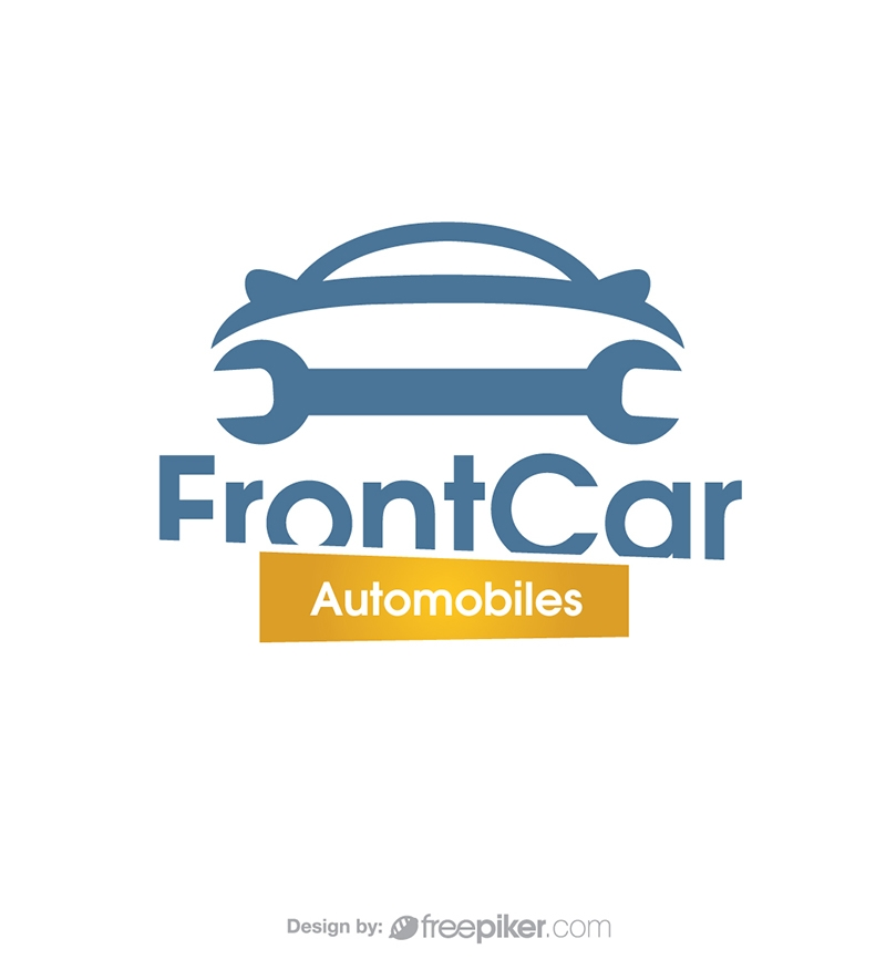 Front Car Automobiles & Repair Logo