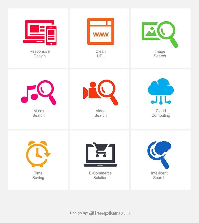 SEO Icons v6 Vector Icons