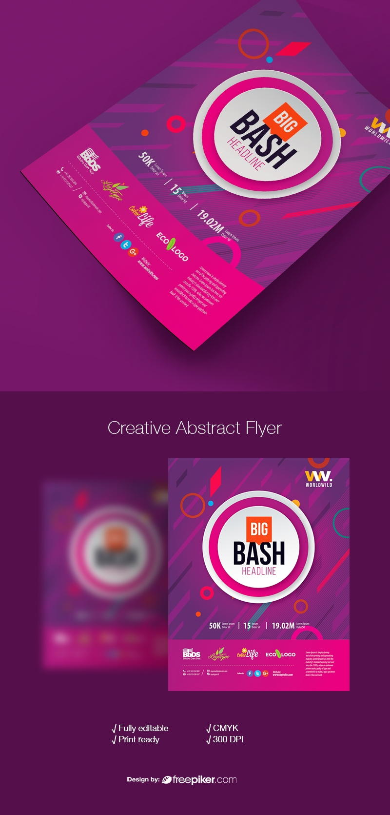 Creative Abstract Style Dark Flyer