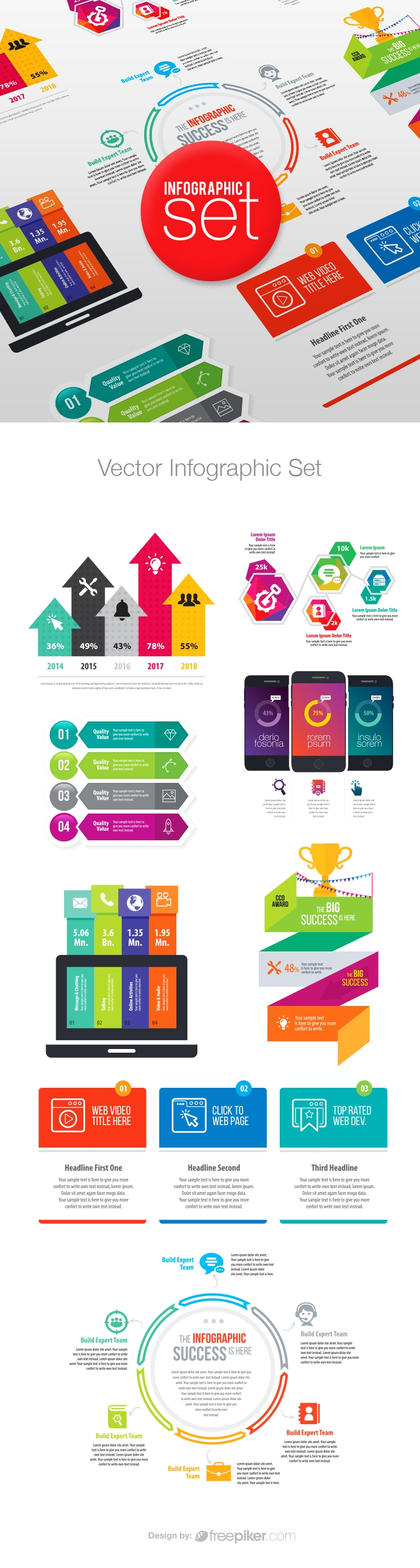 Vector Business Infographic Pack