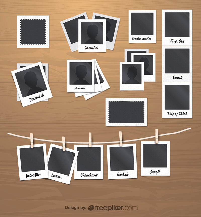 Polaroid & Stamp Photo Frames And Film Pack
