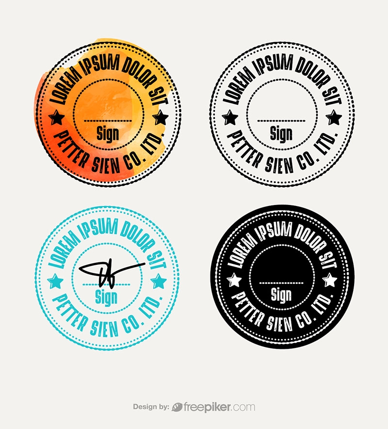 Round Rubber Stamp & Retro Seal