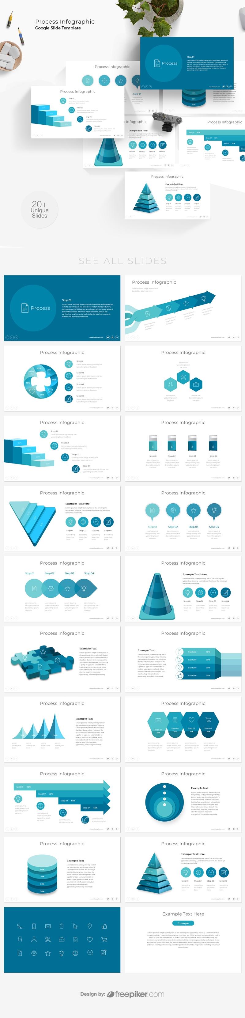 Process Infographic Google Slide Template