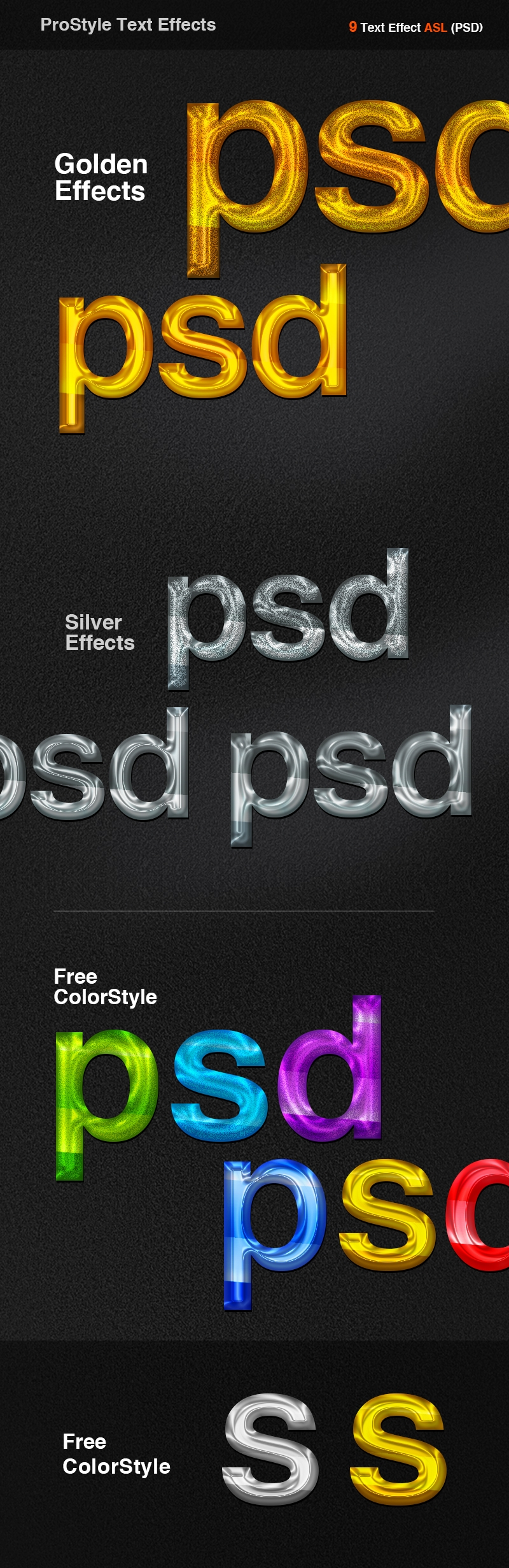 ProStyle Text Effect PSD Style