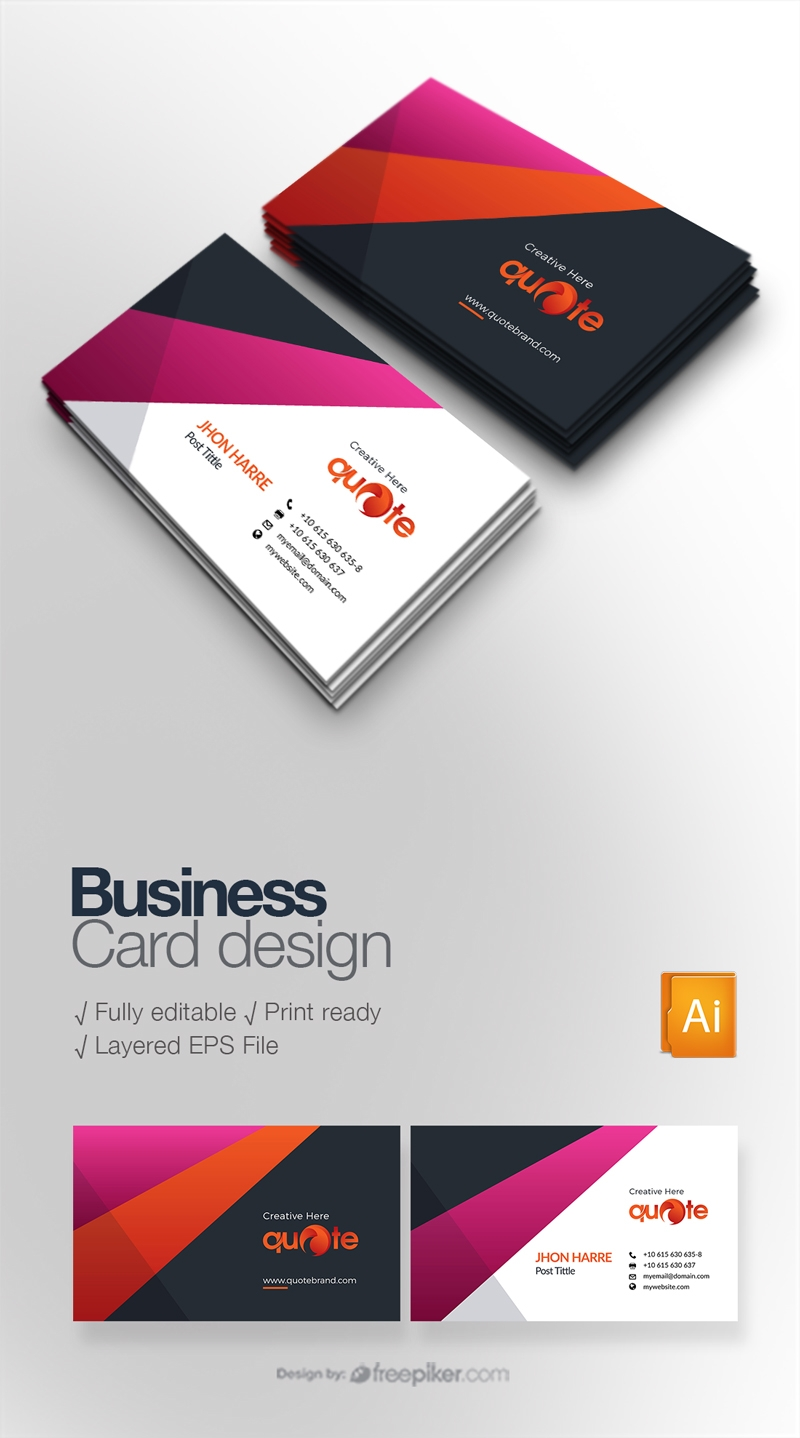 freepiker  quote brand business card