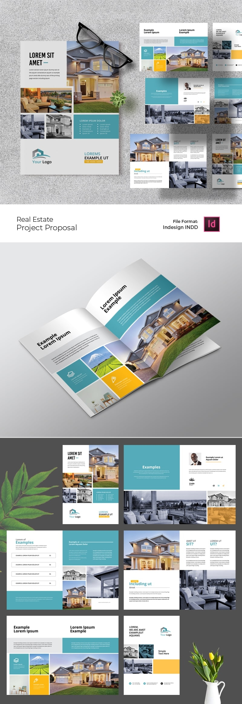Real Estate Project Proposal Layout With Paste Boxes