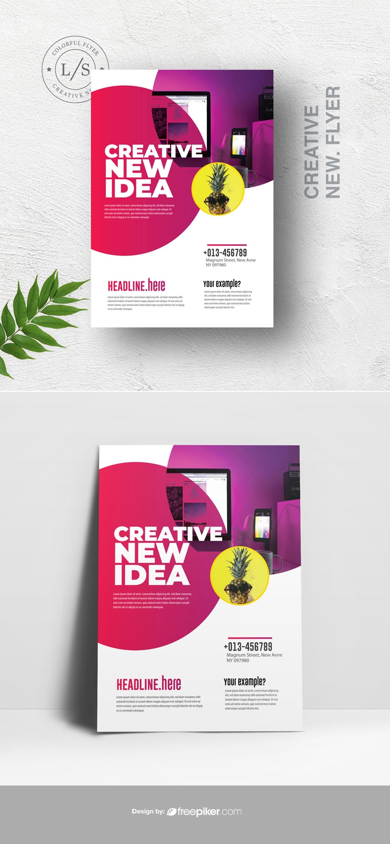 Red Accent Creative Flyer With Criclye