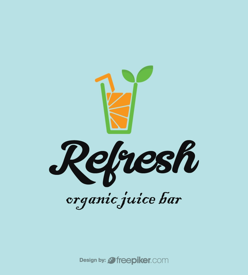 Refresh Organic Juice Bar Logo