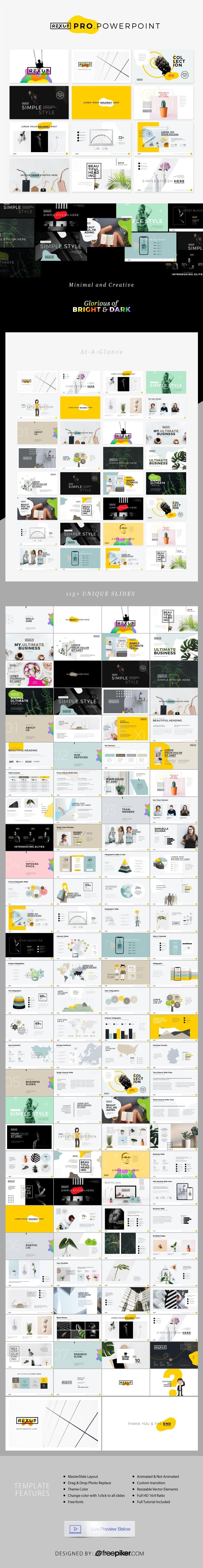 Rexus Pro PowerPoint | Minimal & Creative