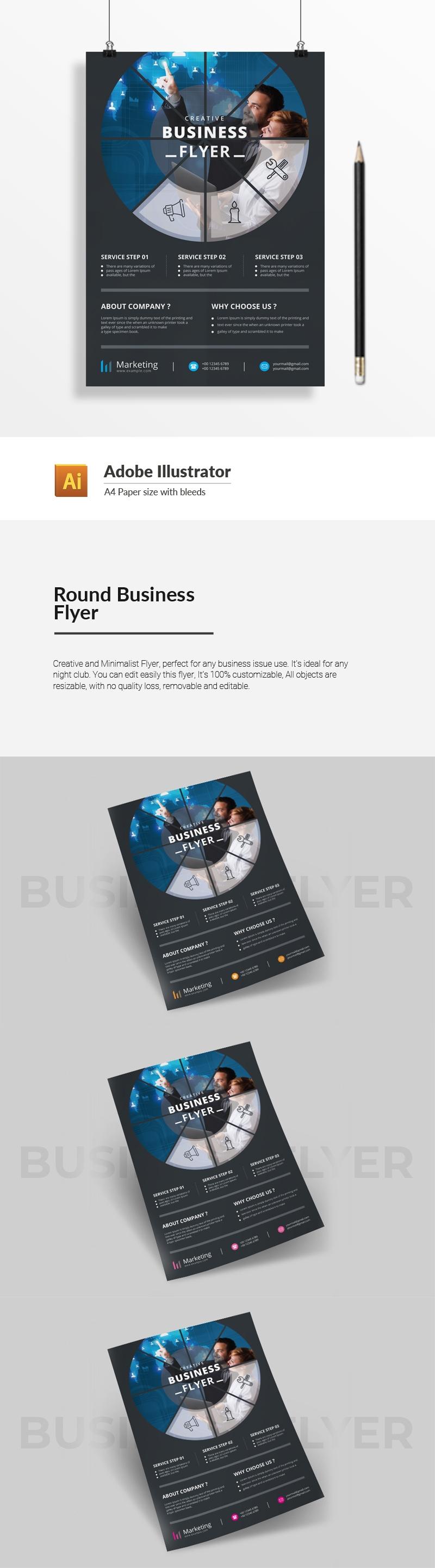 Round Business Flyer