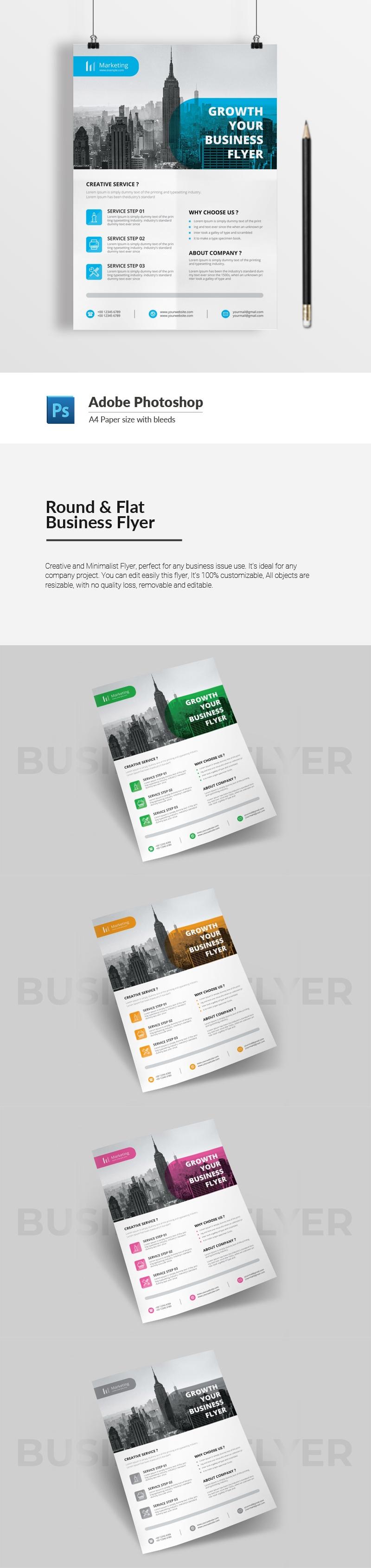 Round & Flat Business Flyer