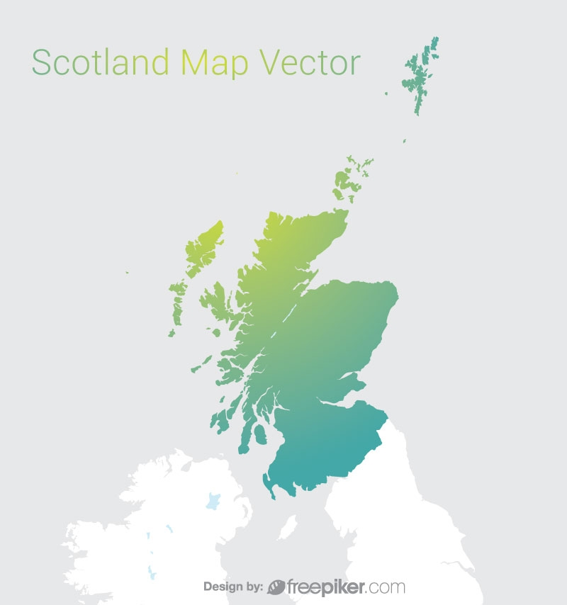 Scotland Map By Gradient Color Vector Design