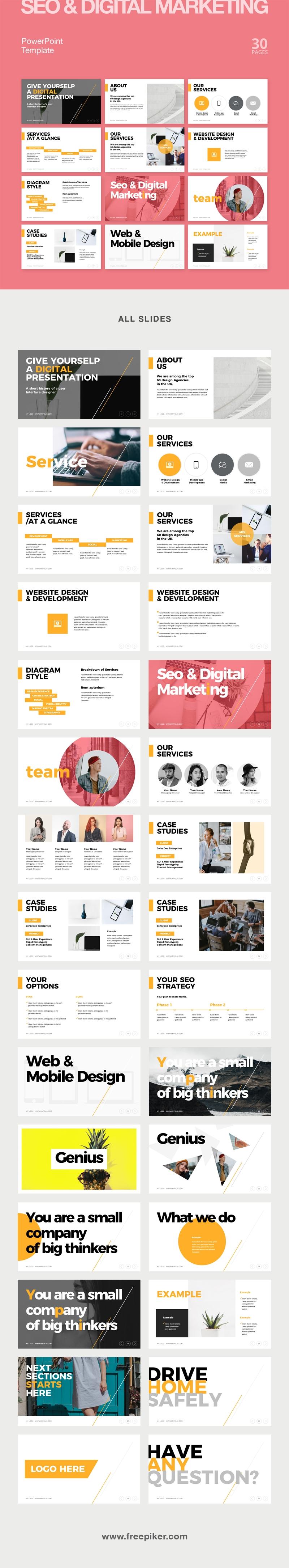 Digital Marketing & SEO Powerpoint