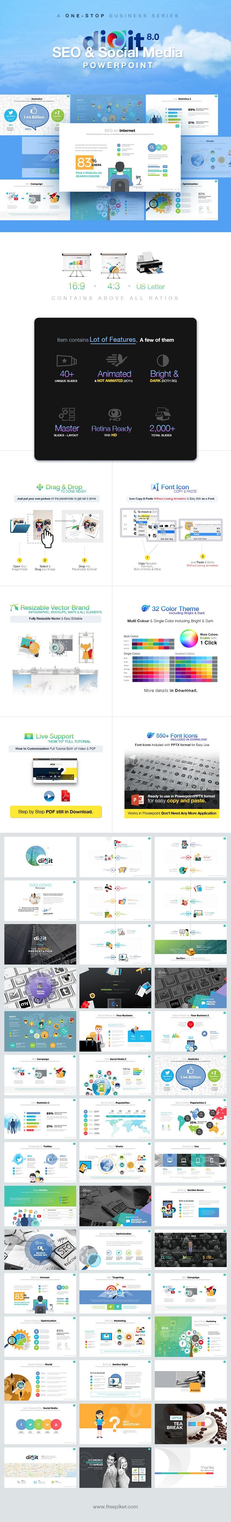 SEO & Social Media Powerpoint | Digit 8