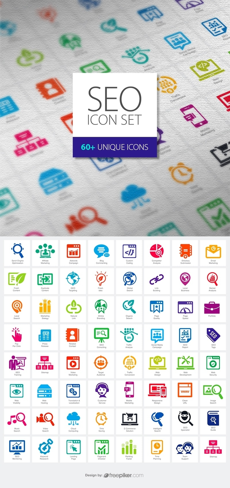SEO Vector Icons Pack Vector Icons