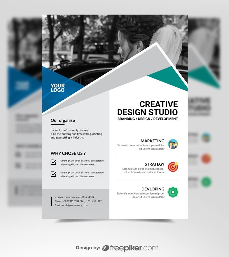 Freepiker Simple Business Flyer Template