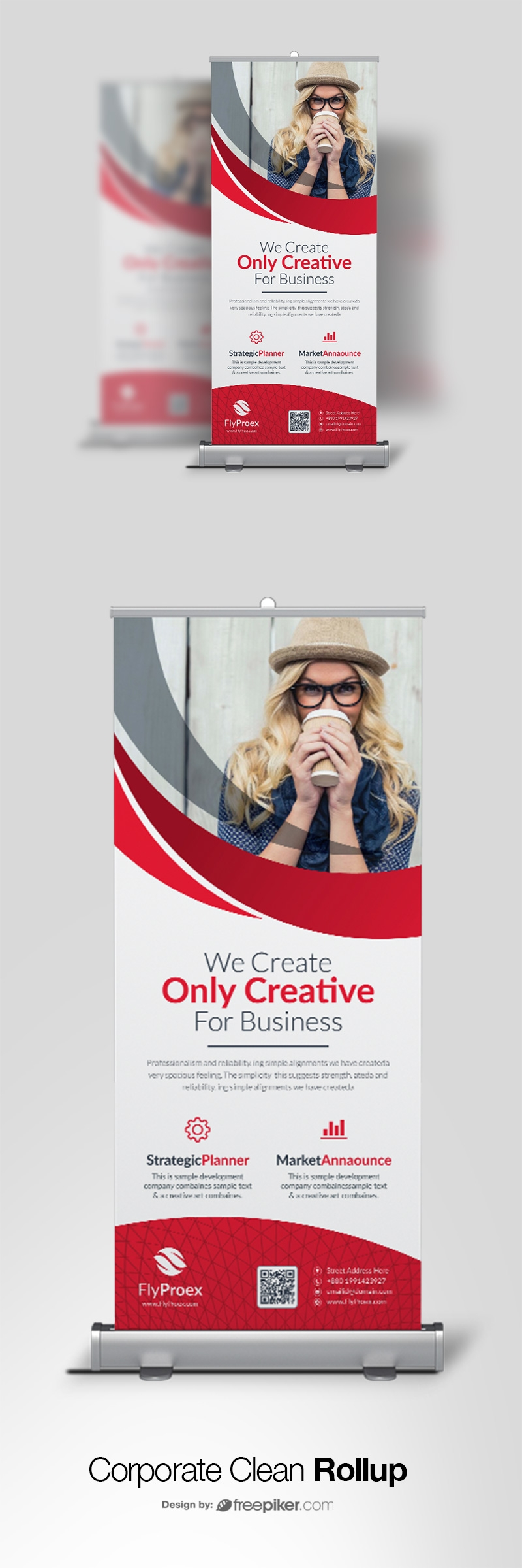 Creative Shape Rollup Banner