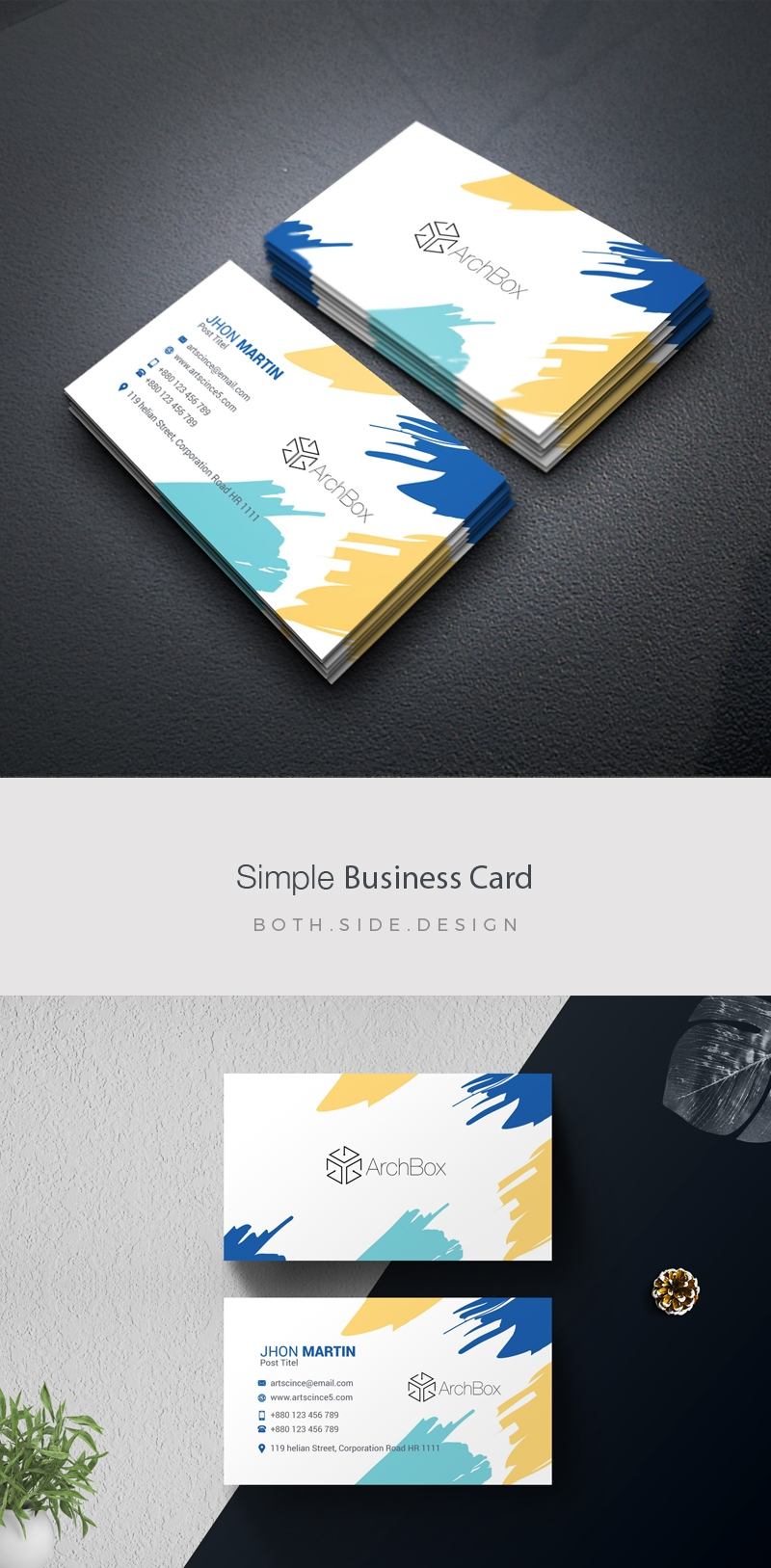 Simple BusinessCard With Brush Style