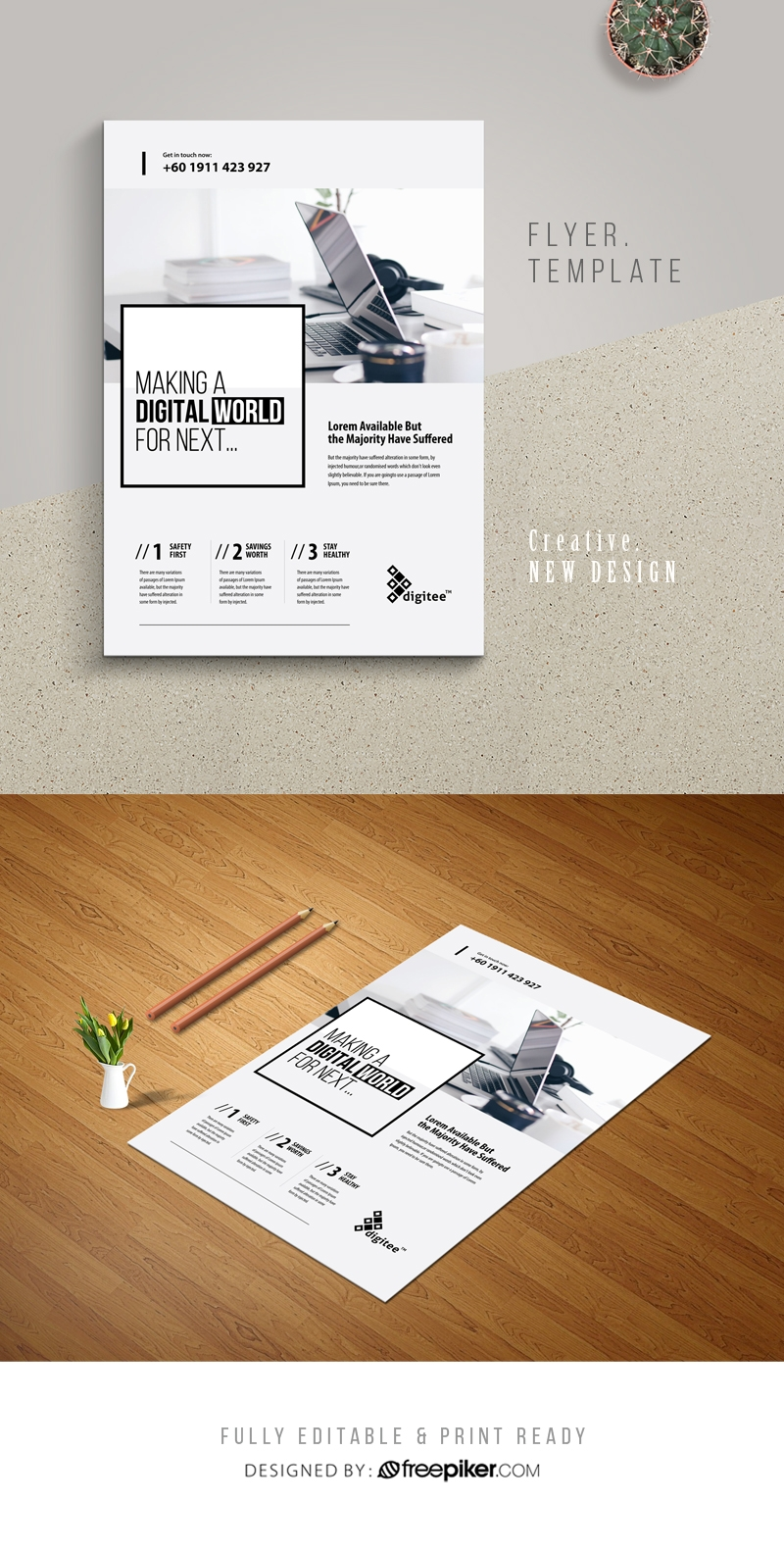 Simple Clean White Flyer With Boxs