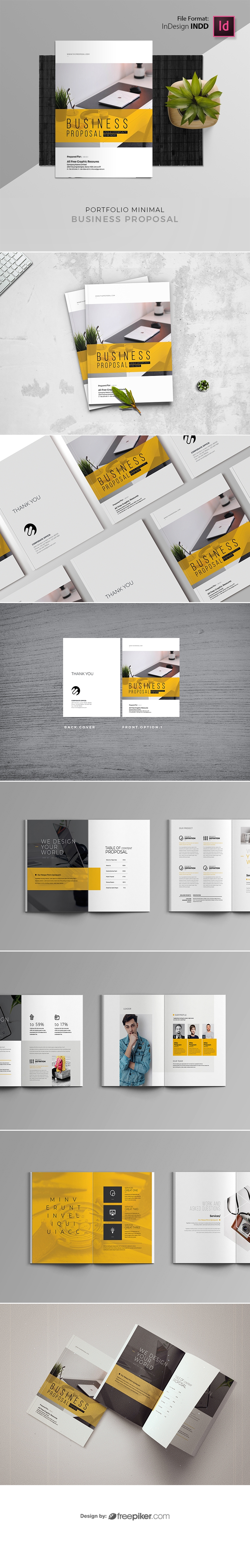 Simple Business Proposal With Yellow Accent