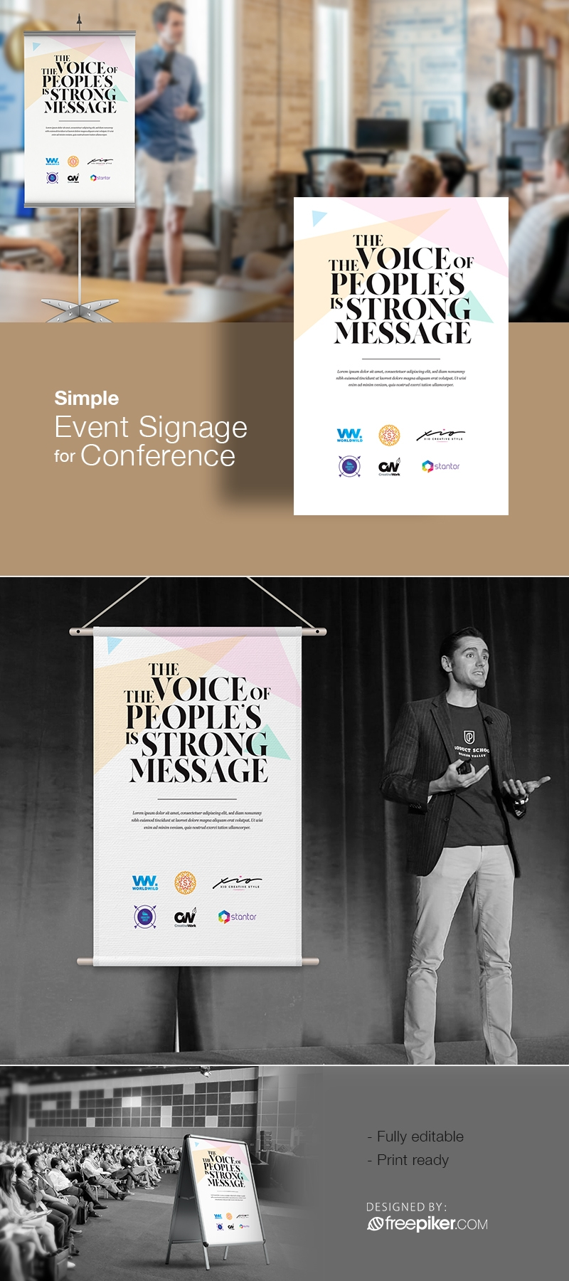 Simple Event Signage For Conference