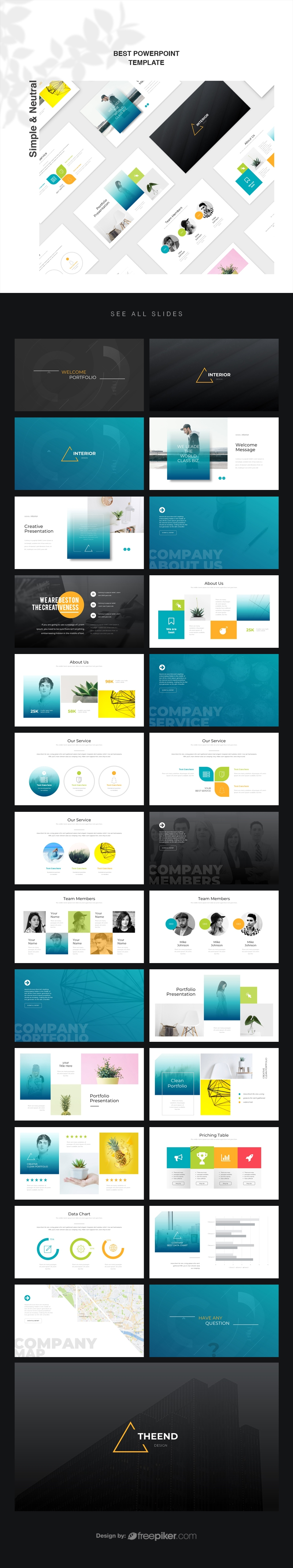 Simple & Neutral PowerPoint Template