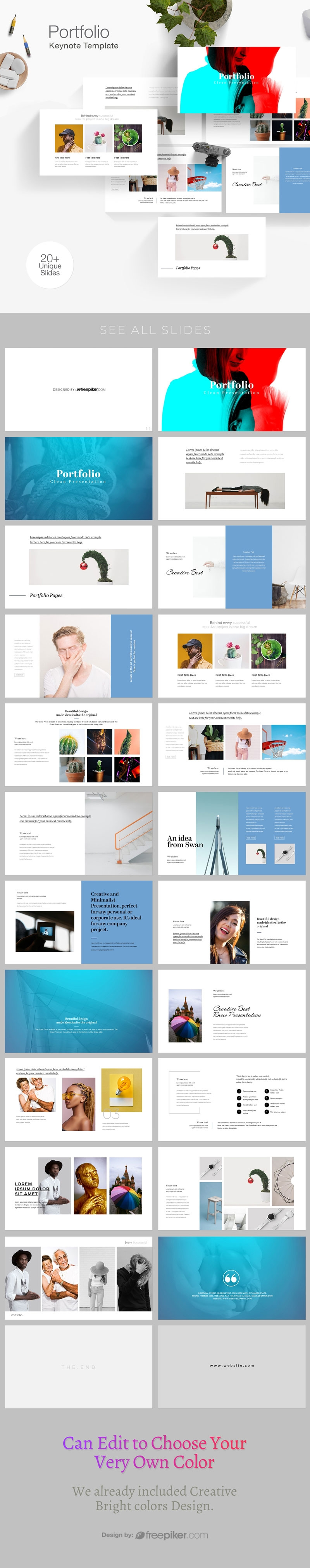 Simple Portfolio Keynote Template