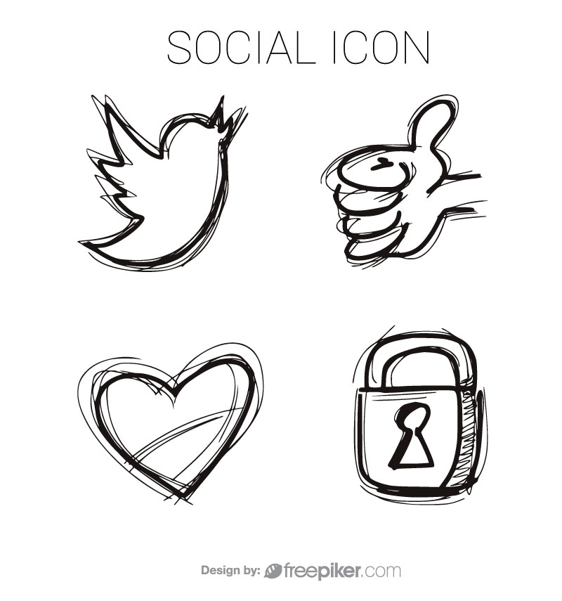 Social Icon Vector Design
