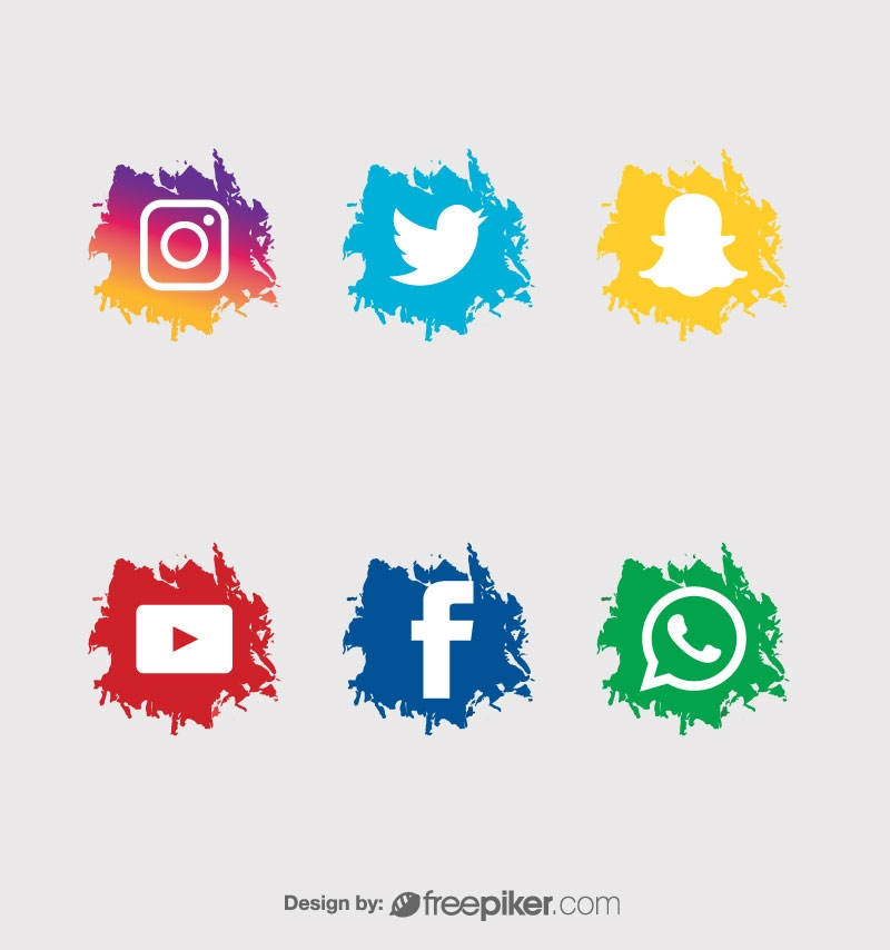Social Icons On Paper Texture Background