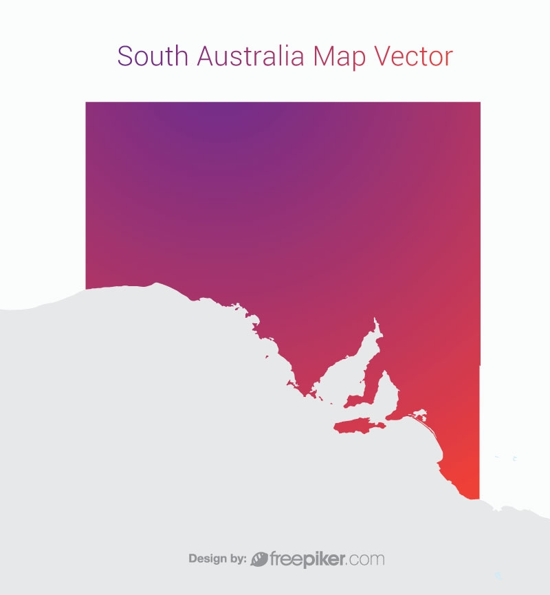 South Australia Map By Gradient Color Vector Design
