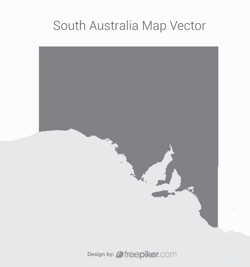South Australia Map Dark Vector Design