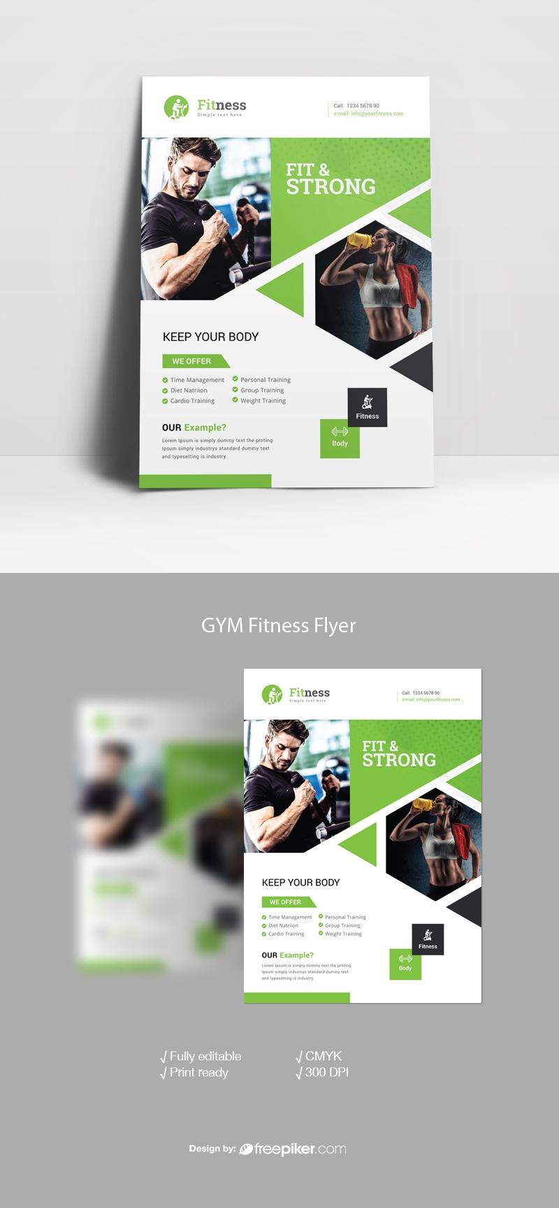Freepiker Sport Fitness Flyer Template