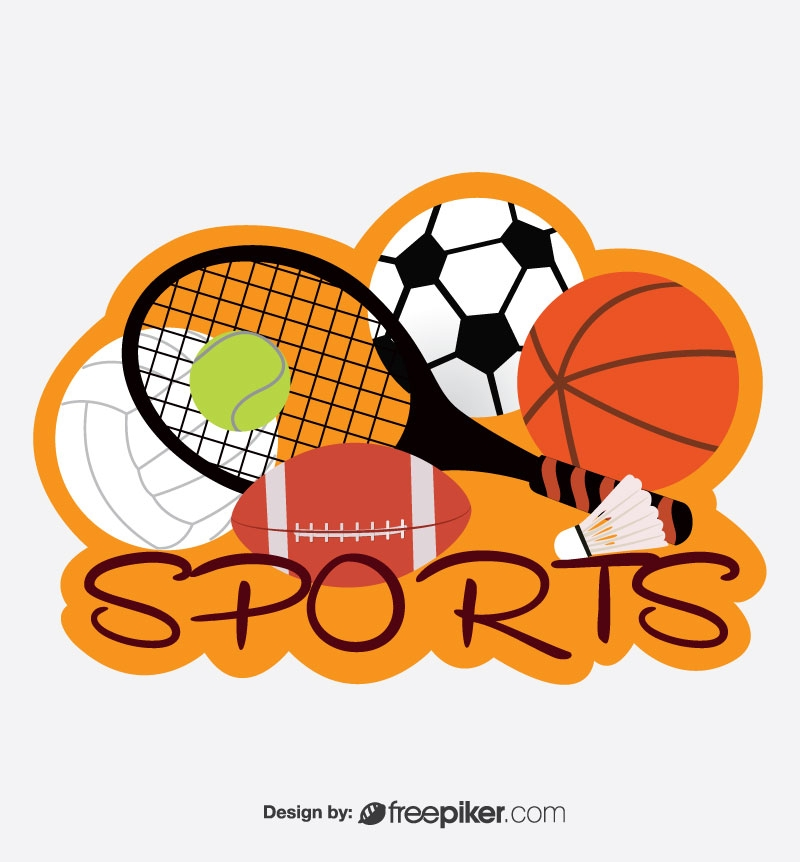 Sporty Elements In Flat Design