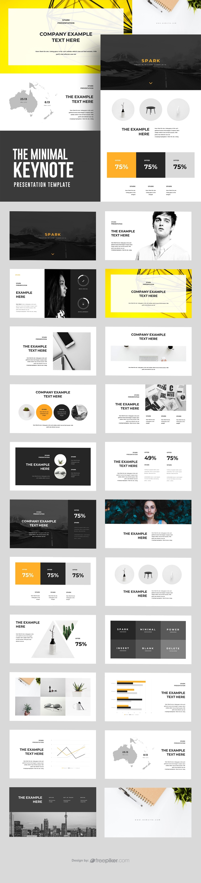 The Minimal Keynote Template