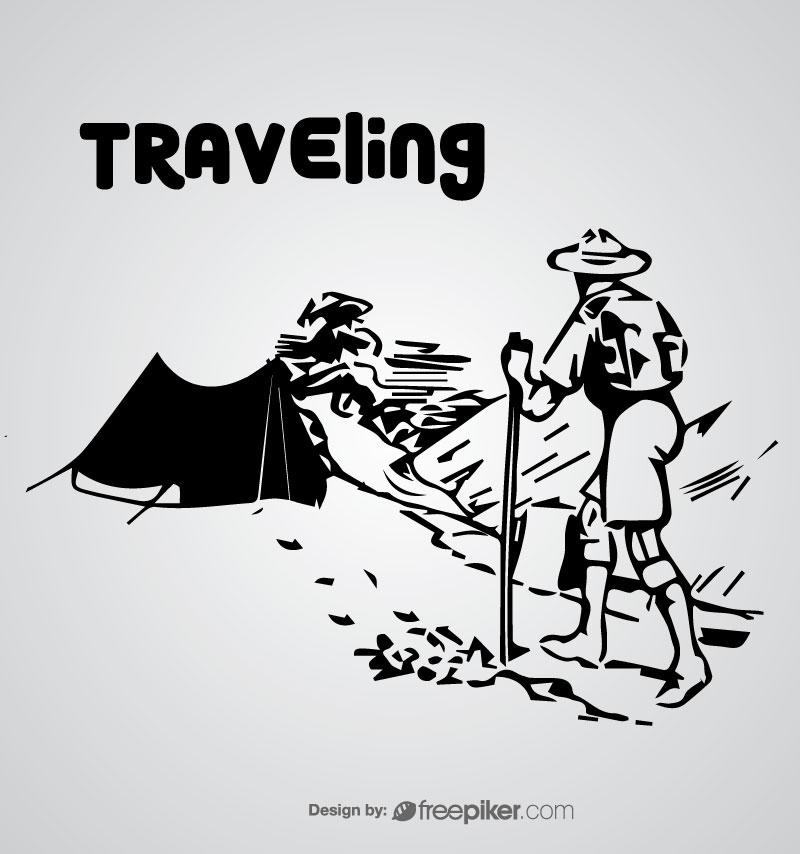 Freepiker Traveling Vector Design