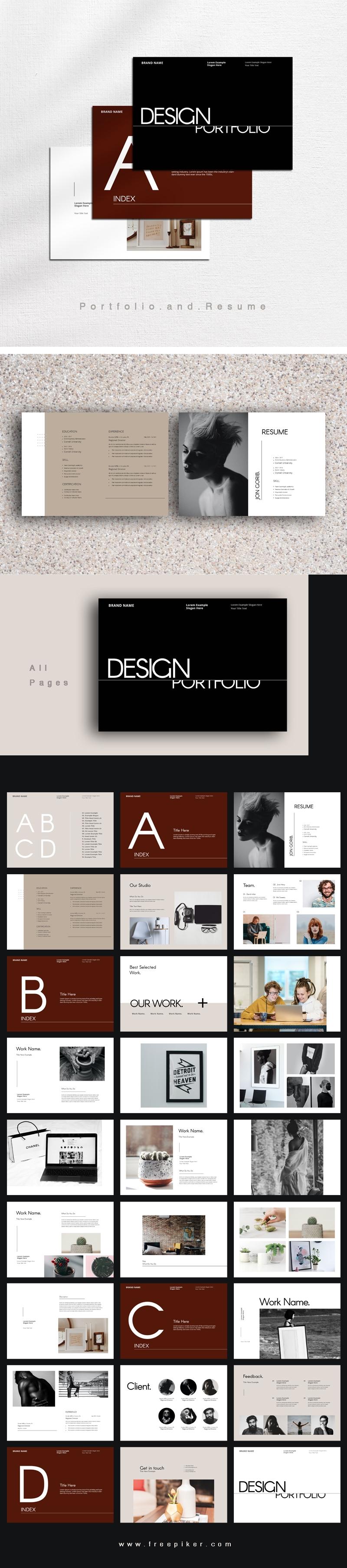 Typo Portfolio and Resume Template