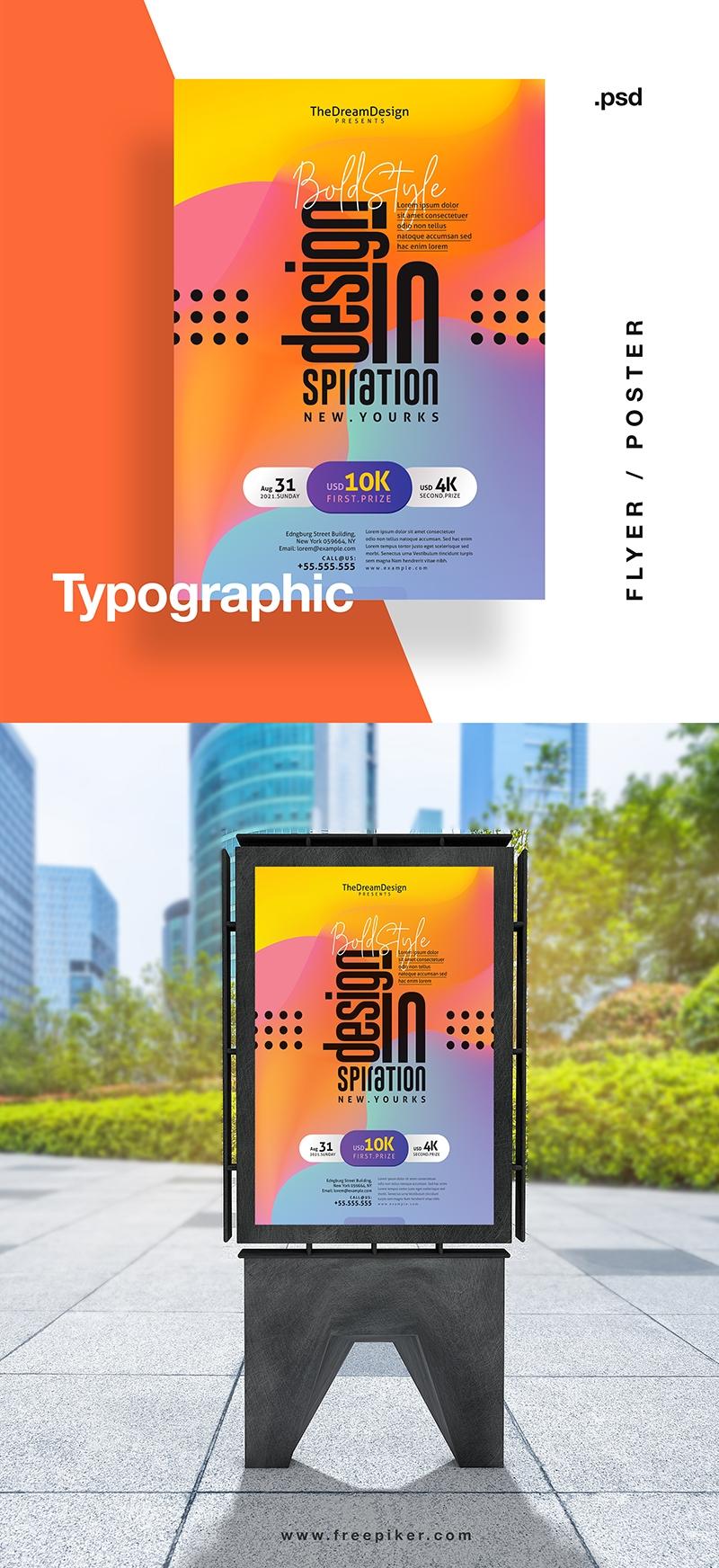 Typographic Creative Event Flyer / Poster
