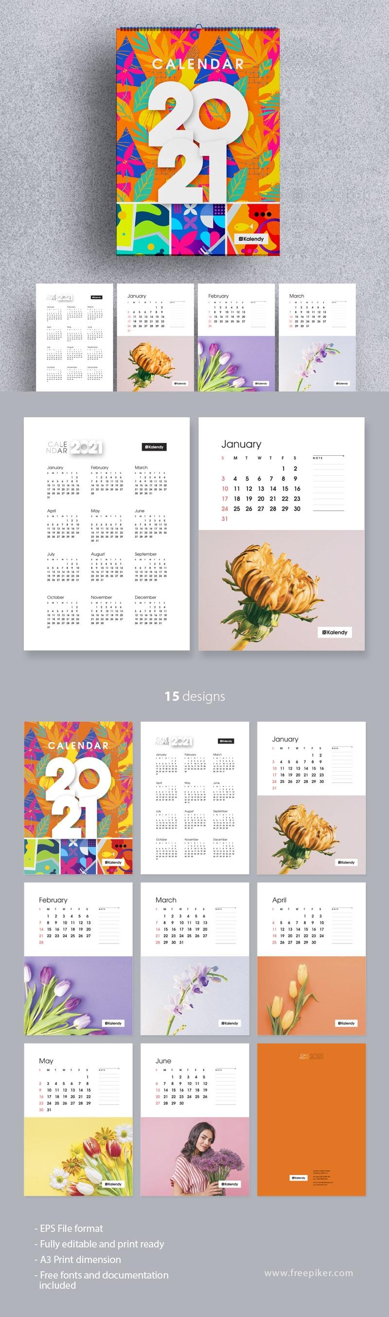 Wall Calendar 2021 - New Year Planner