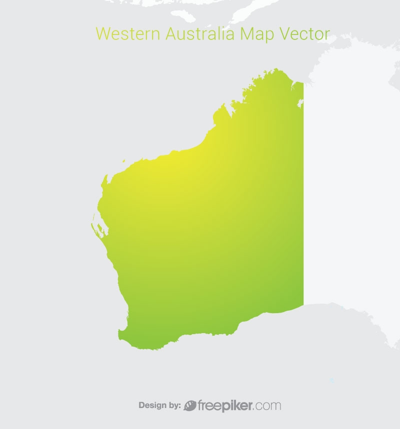 Western Australia Map By Gradient Color Vector Design