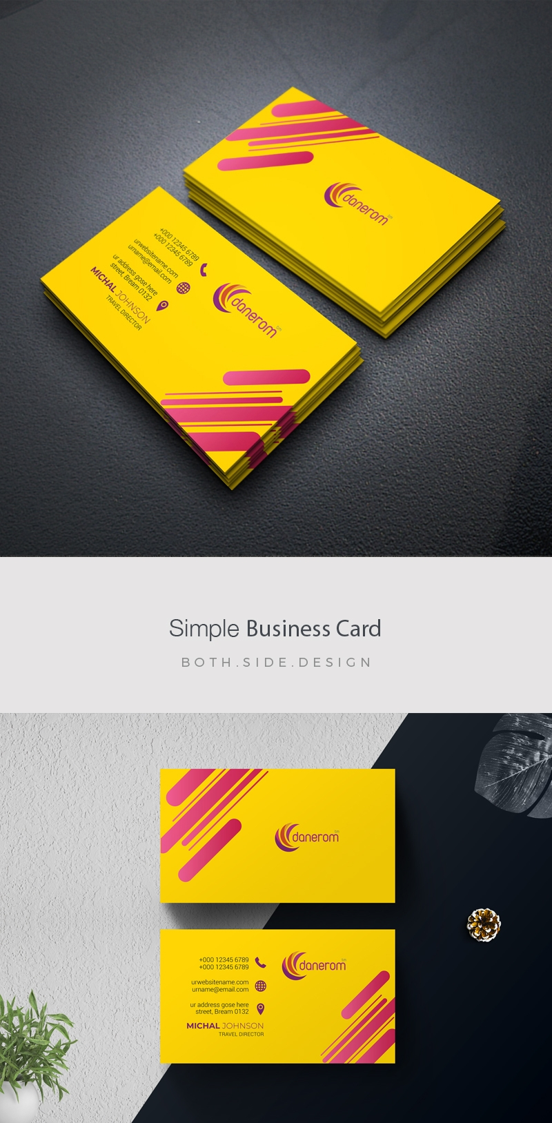 Yellow Accent BusinessCard Template