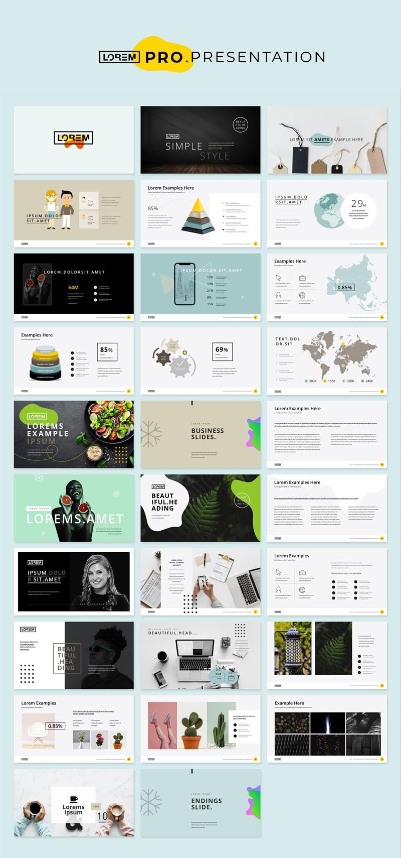 Yellow Presentation Layout