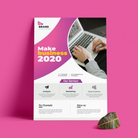 2020 Business Flyer With Magenta Accent