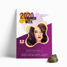 2020 Fashion Week Flyer With Purple Accent