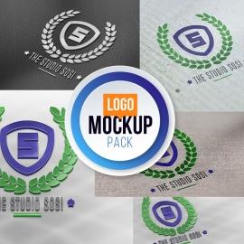 3D Logo Mockup Pack