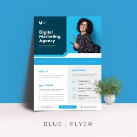 Abstract-blue-bussiness-flyer